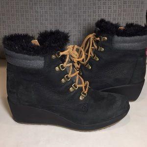 Sperry Luca Peak Waterproof Wedge Boots Size 10